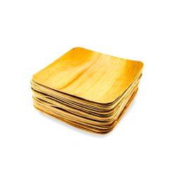 Biohajoava palmunlehtilautanen, neliö 18x18, 25kpl:n pakkaus.