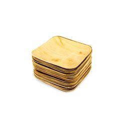 Palmunlehtilautanen, neliö 14x14, 25kpl:n pakkaus