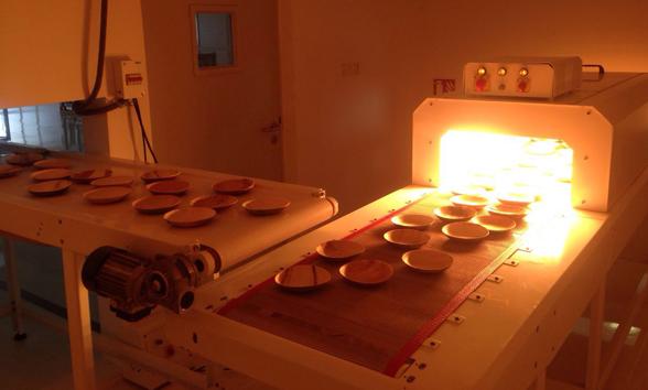 Palmulehtilautaset sterilisoidaan lämmön avulla.